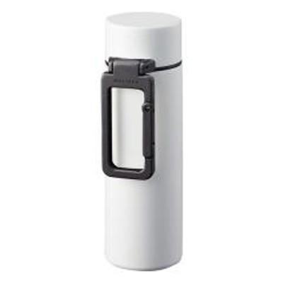 水筒 130ml MOTTERU カラビナハンドル サーモボトル ステンレス ホワイト ( ミニボトル ステンレスボトル 保温 保冷 直飲み マイボトル マグボトル ミニサイズ 直のみ ミニ ボトル 軽量 軽い おしゃれ 大人 )