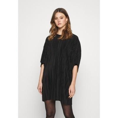 ウィークデイ ワンピース レディース トップス HOLLY PLEAT DRESS - Day dress - black