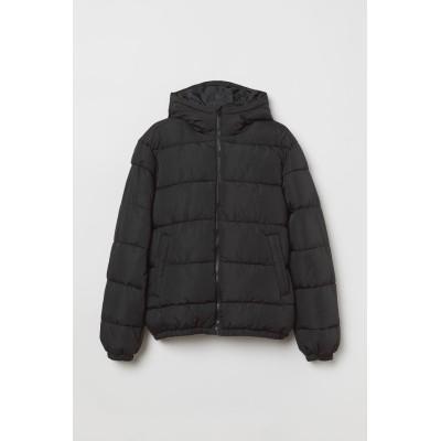 H&M - パッデッドジャケット - ブラック