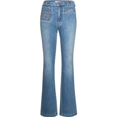 クロエ See By Chloe レディース ジーンズ・デニム ボトムス・パンツ High-rise flared jeans Shady Cobalt