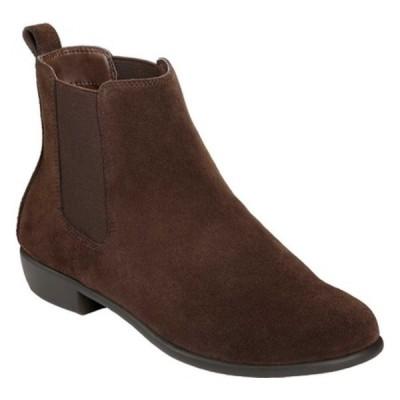エアロソールズ ブーツ&レインブーツ シューズ レディース Step Dance Chelsea Boot (Women's) Brown Suede