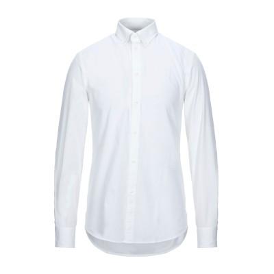 トラサルディ ジーンズ TRUSSARDI JEANS シャツ ホワイト 45 コットン 97% / ポリウレタン 3% シャツ