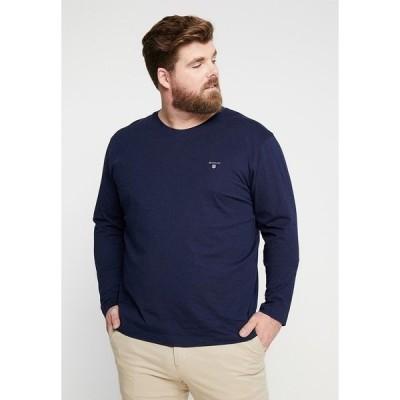 ガント カットソー メンズ トップス THE ORIGINAL - Long sleeved top - evening blue