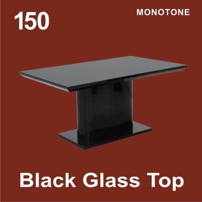 ダイニングテーブル 150cm テーブル 4人掛け テーブルのみ リビング ダイニング ブラックガラス10mm 天板厚60mm 北欧スタイル 組み立て