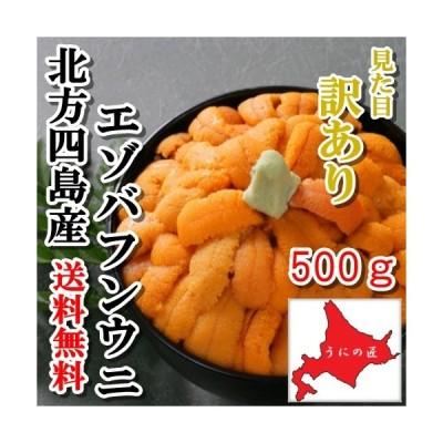 【送料無料】【訳あり】無添加塩水うに500g(エゾバフンウニ)(北方四島産)(北海道うに丼)