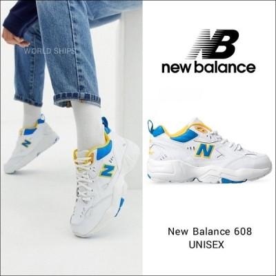 ニューバランス スニーカー レディース メンズ New Balance 608 ホワイト ブルー ユニセックス IU着用モデル 海外限定