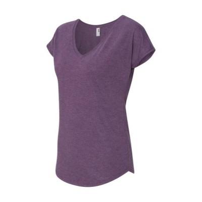 レディース 衣類 トップス Anvil - Women's Triblend V-Neck T-Shirt - 6750VL Tシャツ