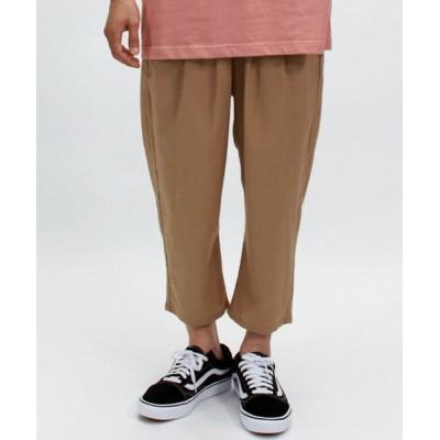 【Amerikaya】 パナマ素材 ストレッチクロップド パンツ ユニセックス ベージュ XL Amerikaya