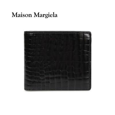 【スニークオンラインショップ】 メゾンマルジェラ MAISON MARGIELA 財布 ミニ財布 二つ折り メンズ レディース MINI WALLET レザー ブラック 黒 S35UI0435 ユニセックス ブラック ワンサイズ SNEAK ONLINE SHOP