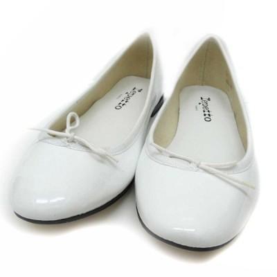 repetto Cendrillon Ballerina ローカットバレリーナーシューズ ホワイト サイズ:37 1/2 (堅田店) 200128