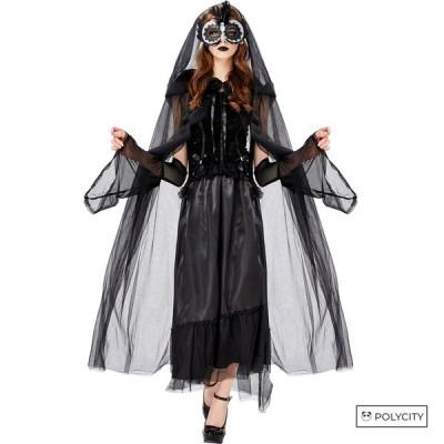 ハロウィン 女の吸血鬼 ワンピース ウーマン マント お盆 マスカレード パーティ コスプレ
