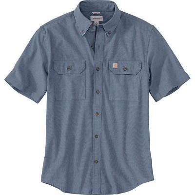 【倍倍ストア】(取寄)カーハート メンズ オリジナルフィット ミッドウエイト ロングスリーブ ボタンフロント シャツ Carhartt Men's Original-Fit M 倍々ストア