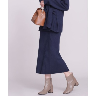 nano・universe / 針抜きリブニットタイトスカート WOMEN スカート > スカート