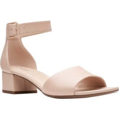クラークス Clarks レディース サンダル・ミュール アンクルストラップ シューズ・靴 Elisa Dedra Ankle Strap Sandal Blush Full Grain Leather