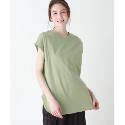 SHOO・LA・RUE/DRESKIP(シューラルー/ドレスキップ) 【追加生産】USAコットンラウンドヘムTシャツ