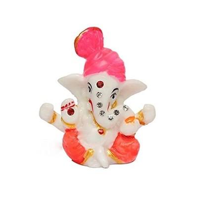 Satre Online and Marketing 2.6インチ Pagdi Stone ミニ Lord Ganesh/Ganpati ポリレジンア