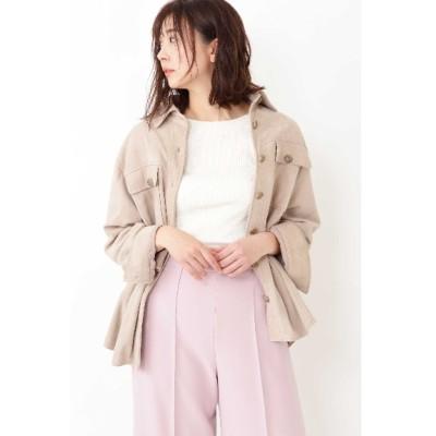 JILLSTUART (ジルスチュアート) レディース ◆モリースエードシャツジャケット BEIGE(040) FR