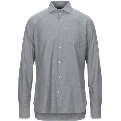 ブルックスフィールド BROOKSFIELD シャツ グレー 40 コットン 100% シャツ