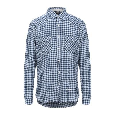DNL シャツ ブルー 41 コットン 59% / ポリエステル 40% / ポリウレタン 1% シャツ