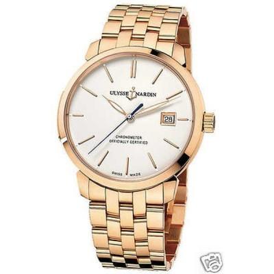 腕時計 ユリスナルダン Ulysse Nardin San Marco クラシックo オートマチック ローズ ゴールド 8156-111-8/91 Ret: $34,200