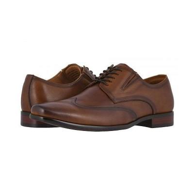 Florsheim フローシャイム メンズ 男性用 シューズ 靴 オックスフォード 紳士靴 通勤靴 Postino Wing Tip Oxford - Cognac Smooth