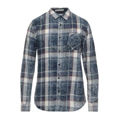 SMITHY'S シャツ ブルー XL コットン 100% シャツ