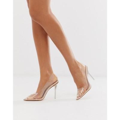 パブリックディザイア Public Desire レディース パンプス シューズ・靴 Drank clear court shoes ベージュ