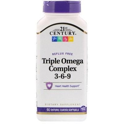 トリプル・オメガ・コンプレックス3-6-9、腸溶性ソフトジェル90錠