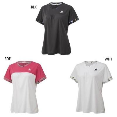 ルコックスポルティフ レディース 半袖シャツ テニス バドミントンウェア トップス  吸汗 UVカット UPF50  QTWQJA03