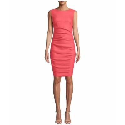 ニコルミラー ワンピース トップス レディース Lauren Stretch Linen Dress Mediterranean Coral