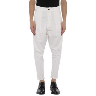 MNML COUTURE パンツ ホワイト 42 コットン 97% / ポリウレタン 3% パンツ