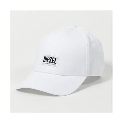 (DIESEL/ディーゼル)【DIESEL(ディーゼル)】SYQ9 BAUI CORRY HAT ロゴプリント ベースボールキャップ 帽子 100/ホワイト メンズ レディース/ユニセックス ホワイト