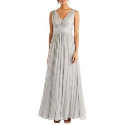 モーガン ワンピース トップス レディース Women's Sleeveless V Neck Jewel Waist Gown -