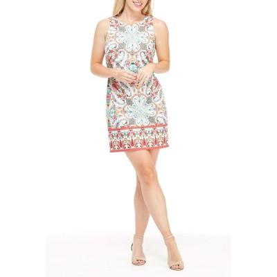 ロンドンタイムス レディース ワンピース トップス Floral Paisley Sleeveless Sheath Dress SW/FUSHIA