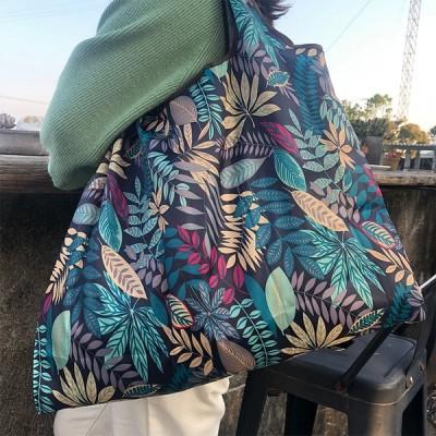 トートバッグ レディース 折りたたみバッグ エコバッグ 大容量 ボタニカル 多機能 お子様 お母さん 主婦 お買い物 手提げバッグ 斜めがけバッグ 軽量