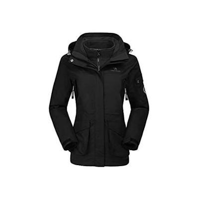 CAMEL CROWN Womens Waterproof Ski Jacket 3-in-1 Winter Coat with Fleece Inn