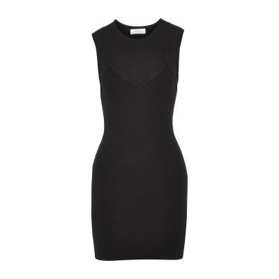 エー・エル・シー A.L.C. ミニワンピース&ドレス ブラック L レーヨン 68% / ポリエステル 32% ミニワンピース&ドレス
