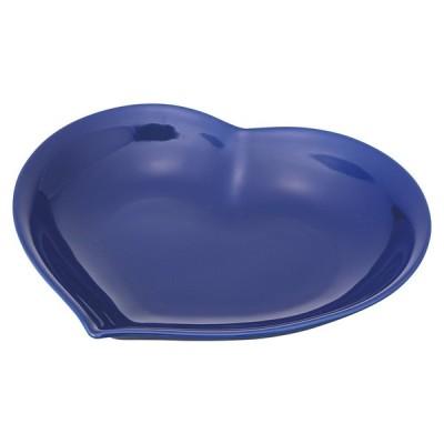 洋食器 パスタ皿 / アシンメトリックハートカレー&パスタ(ネイビー) 寸法: 22.5 x 21 x 5.5cm