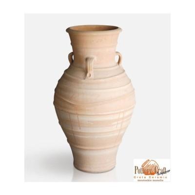 ギリシャ製テラコッタプランター アンフォレアス (直径60cm 高さ100cm) クレタ島シリーズ Crete in Greece Amforeas GR-CC-36 素焼き 植木鉢