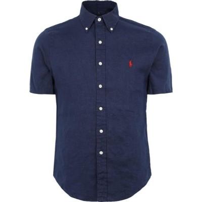 ラルフ ローレン POLO RALPH LAUREN メンズ シャツ トップス slim fit linen shirt Dark blue