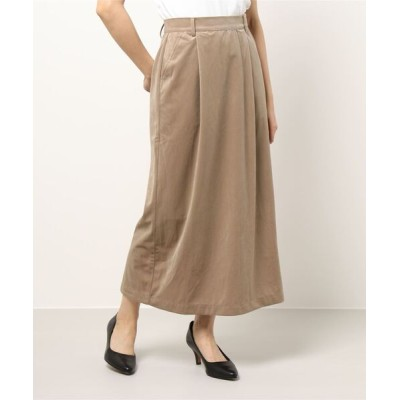 スカート ツイルベロアセミタイトスカート