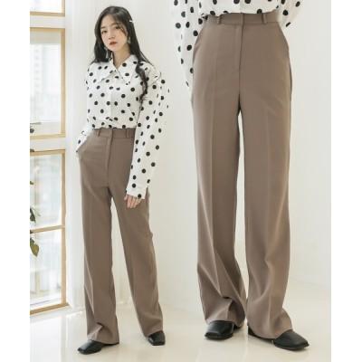 UNE MANSION / ハイウエストセンタープレススラックス WOMEN パンツ > スラックス