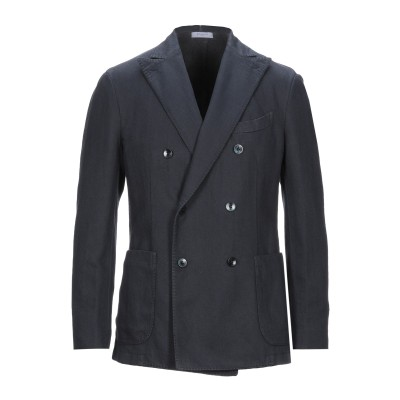 ボリオリ BOGLIOLI テーラードジャケット ダークブルー 46 コットン 64% / リネン 36% テーラードジャケット