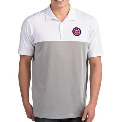 アンティグア Antigua メンズ ポロシャツ トップス Chicago Cubs Venture White Performance Polo
