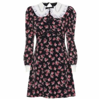 ミュウミュウ Miu Miu レディース ワンピース ワンピース・ドレス Floral minidress Nero/rosa