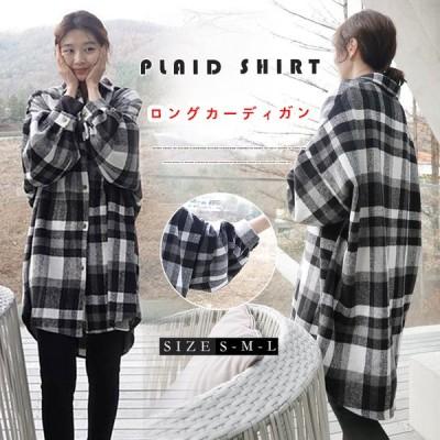 韓国ファッションカジュアル/チェックの長袖シャツ/秋冬の厚手のコート/学院風可愛いシャツZX1880