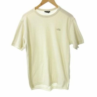 【中古】ザノースフェイス カットソー Tシャツ ショートスリーブハニカムクルー XL 白 ホワイト NT11942 /YO13 メンズ