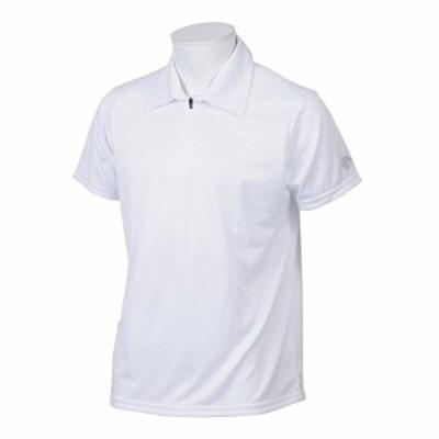 デサント(DESCENTE) ハーフジップポロシャツ DAT-4710 WHT ホワイト O