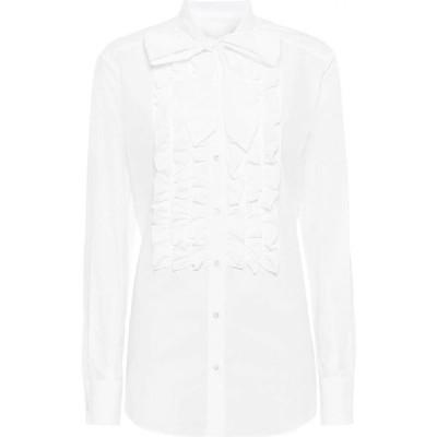 ドルチェ&ガッバーナ Dolce & Gabbana レディース ブラウス・シャツ トップス Cotton Shirt Optical White