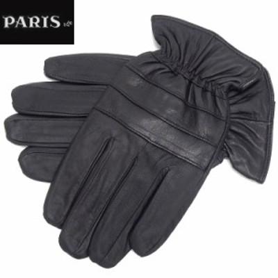 ◆手袋◆PARIS16e 羊革/シープスキン 黒 メンズ グローブ メール便可 LAM-N05-BK